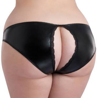 Lovehoney Plus Size Wet Look Open-Back Briefs