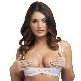 Lovehoney Love Me Lace 1/2 Cup Bra