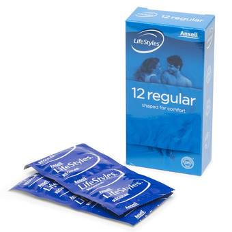 Ansell LifeStyles Regular Condoms (12 Pack)