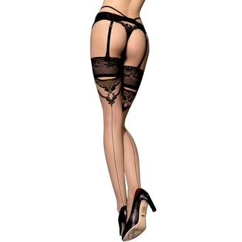 Ballerina Luxury Lace Top Back-Seam Hold Ups