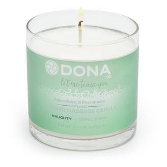DONA Naughty Sinful Spring Pheromone Massage Candle