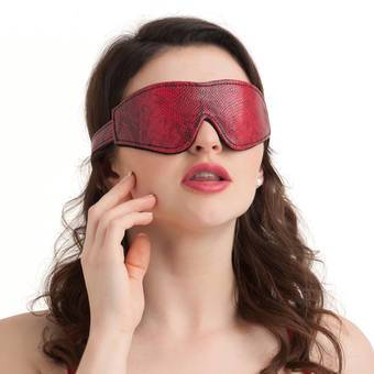 Bondage Boutique Faux Snakeskin Blindfold