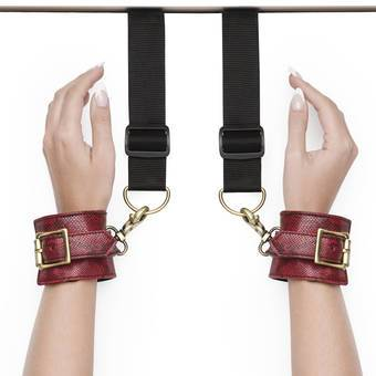Bondage Boutique Faux Snakeskin Over-the-Door Cuffs