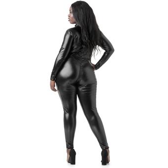 Lovehoney Plus Size Fierce Wet Look Zip-Around Catsuit