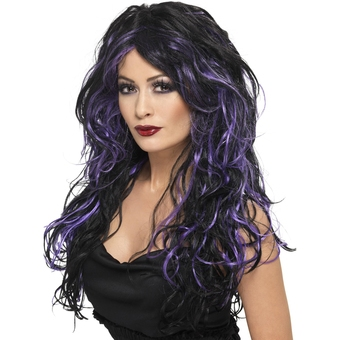 Fever Gothic Purple and Black Long Wig