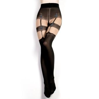 Ballerina Luxury Suspender Belt Patterned Tights