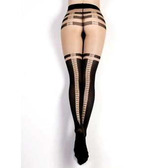 Ballerina Luxury Detailed Back-Seam Metal Clasp Tights