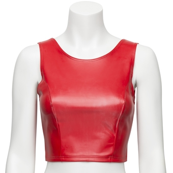 Easy-On Latex Red Cropped Top