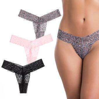 Lovehoney Wild Thing Leopard Lace Thong Set