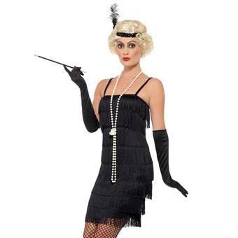 Fever Black Fringed Flapper Costume