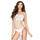 Passion Crotchless Fence Net White Strappy Body