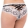 Lovehoney Black and White Crotchless Criss-Cross Lace Knickers