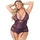 Lovehoney Plus Size Moonflower Strappy Basque Set