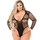 Lovehoney Plus Size Fishnet Deep Plunge Thong Body