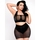 Brand X Grand Finale Wet Look & Fishnet Crotchless Thong and Skirt Set