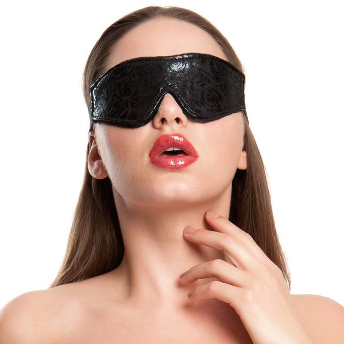 silky black blindfold