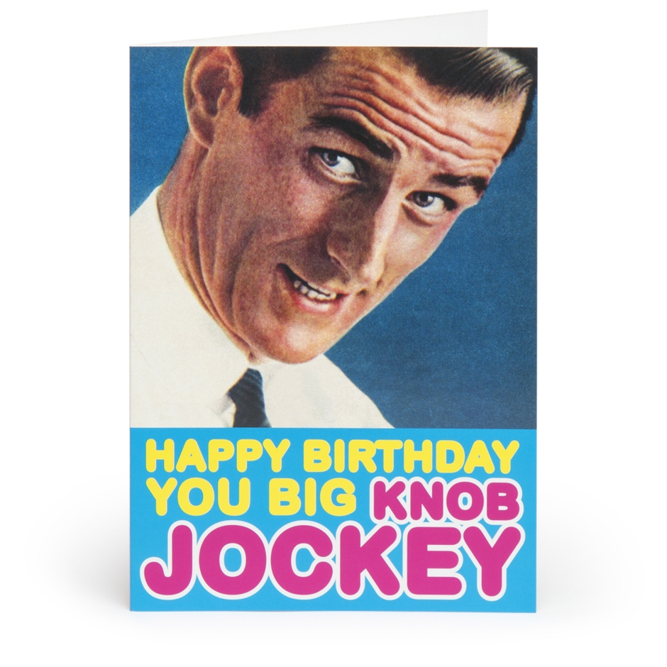 Happy Birthday You Big Knob Jockey Adult Greetings Card