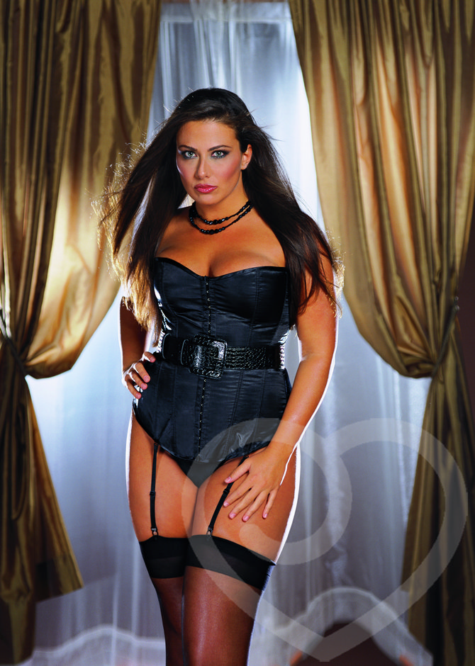 Dreamgirl Plus Size Stretch Satin Corset