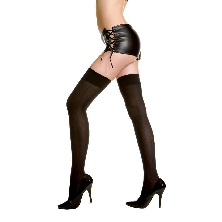 Music Legs Opaque Garter Stockings
