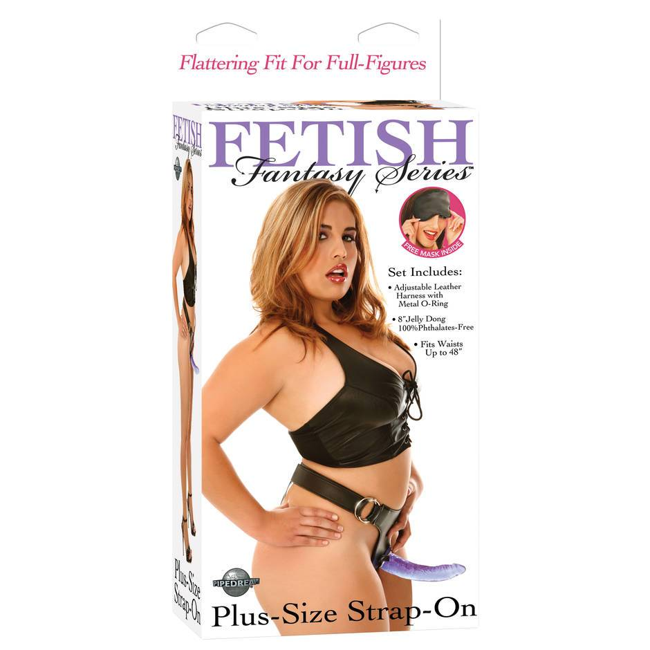 Fetish Fantasy Plus Size Harness and Dildo Set