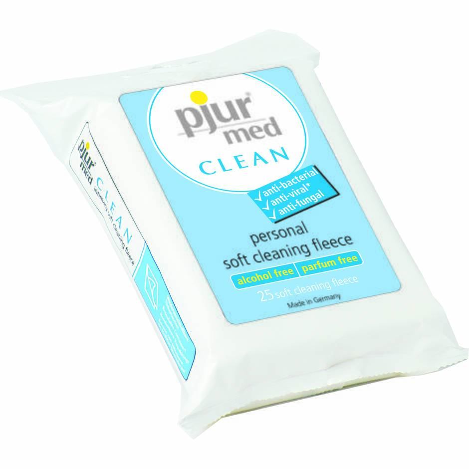 Pjur Med Antibacterial Fleece Sex Toy and Body Wipes (25 Pack)