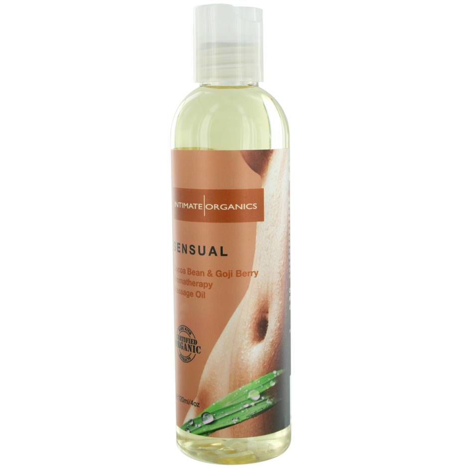 Intimate Organics Sensual Cocoa Bean & Goji Berry Massage Oil 120ml