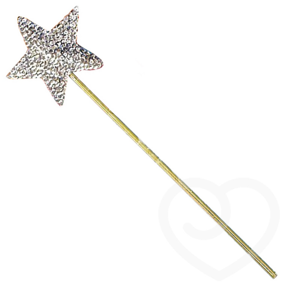 Sequinned Star Fairy Wand