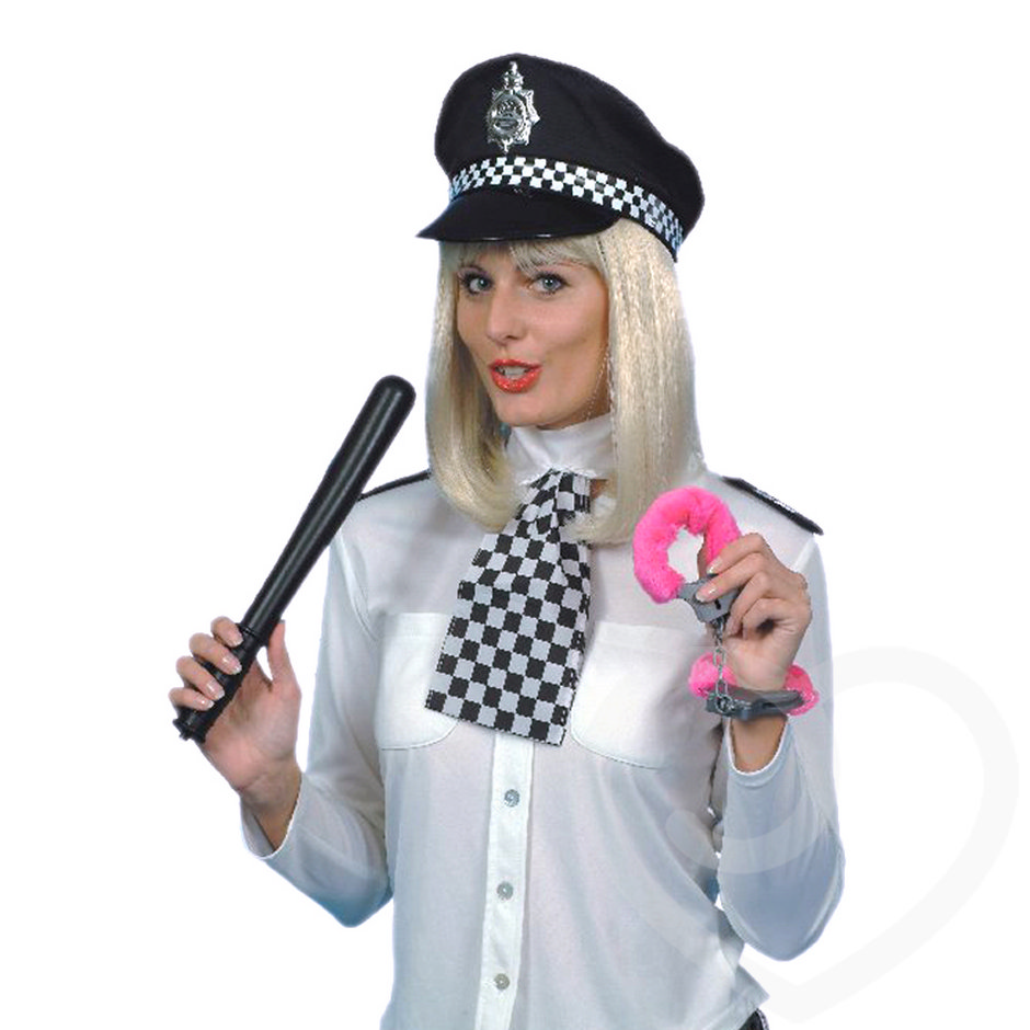 Policewoman Set with Truncheon and Handcuffs