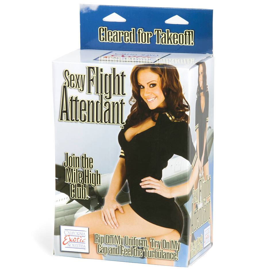 Sexy Flight Attendant 2 Hole Pretty Inflatable Sex Doll 820g