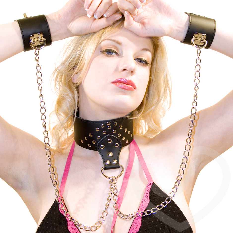 Consider, that models in chain bondage