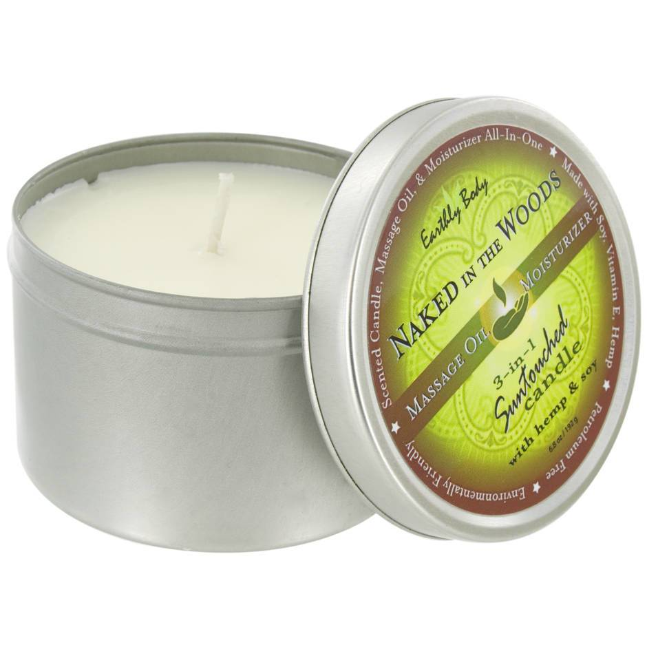 Earthly Body Naked in the Woods 3-in-1 Massage Candle 170g