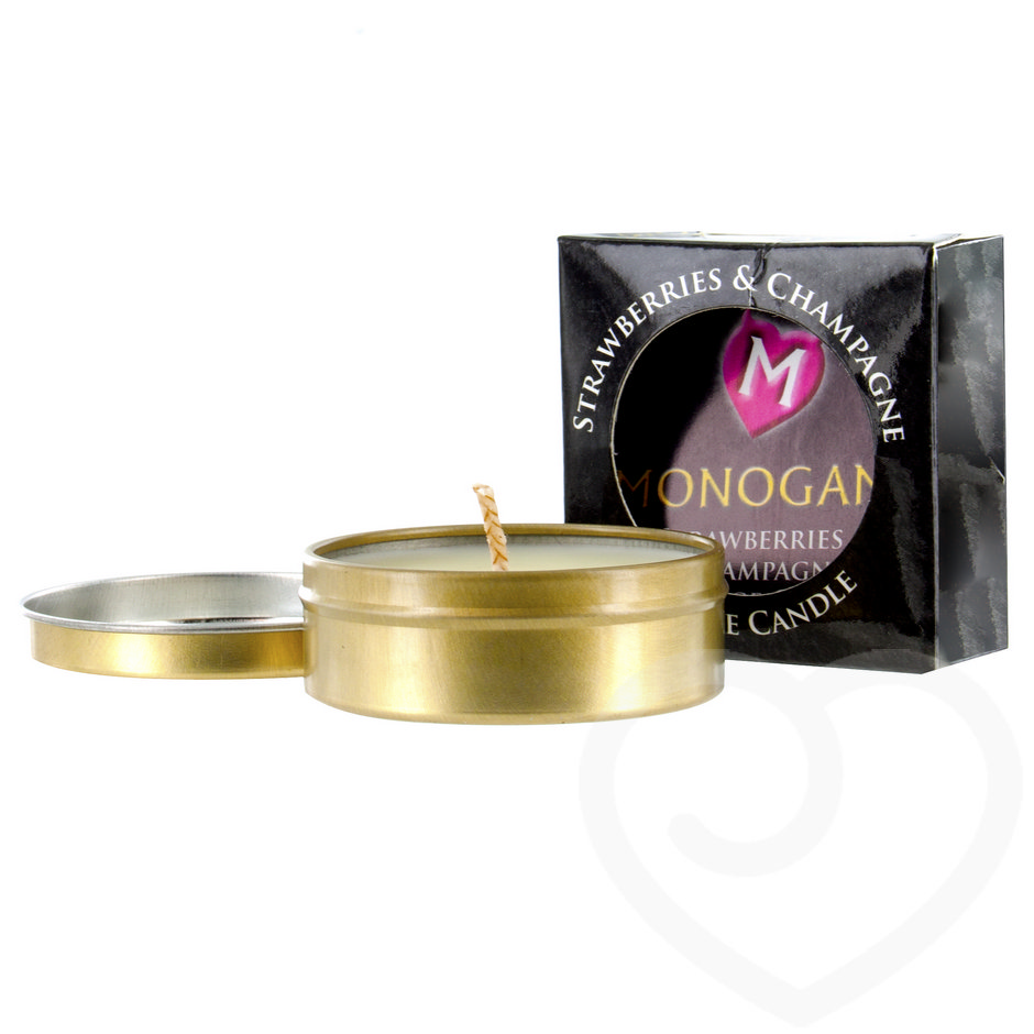 Monogamy Strawberries & Champagne Intimate Massage Candle 25g