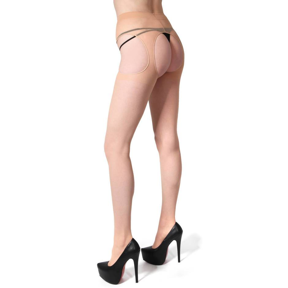 Leg Avenue transparente All-in-One-Strumpfhose mit Strapsen