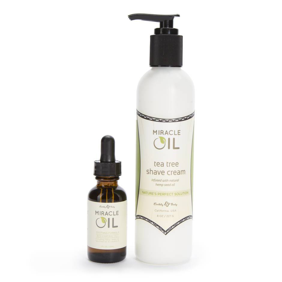 Earthly Body Miracle Oil & Shave Cream Combo