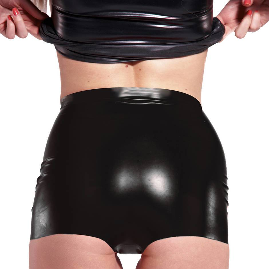 Rubber Girl Retro High Waisted Latex Knickers