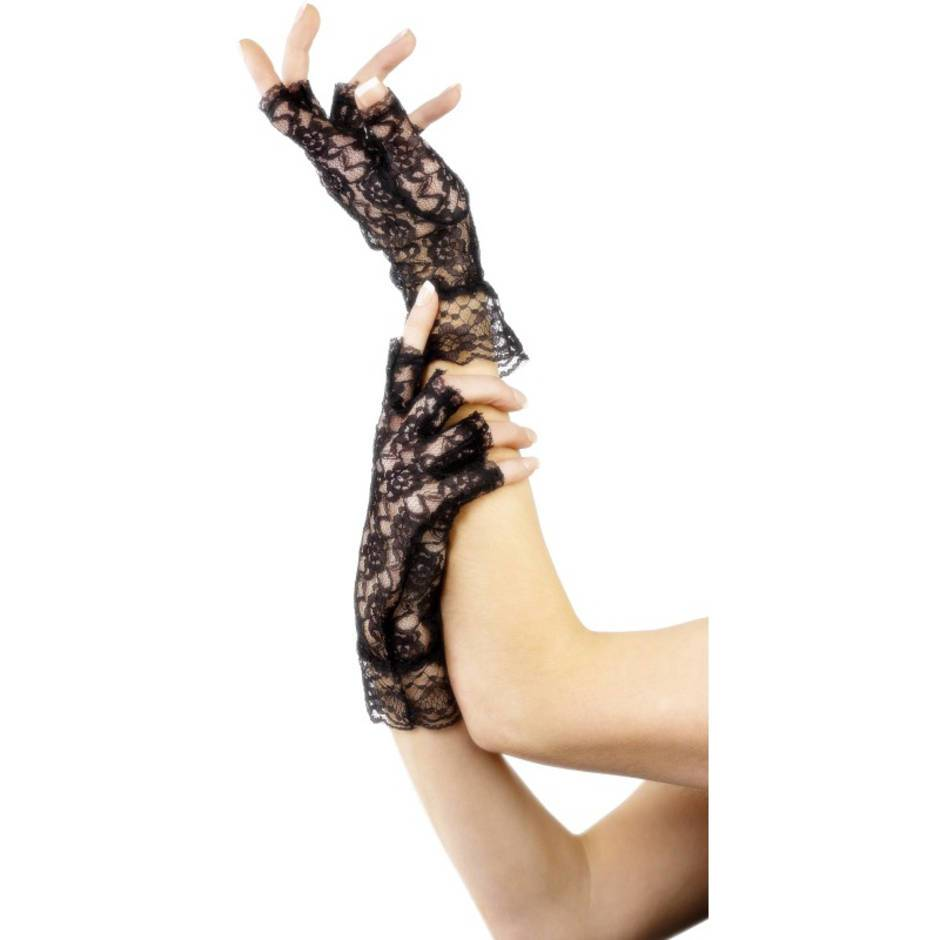 Fever Fingerless Lace Gloves