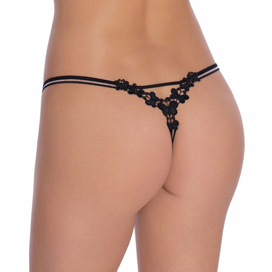 Roza Fiona Embroidered Butterfly G-String