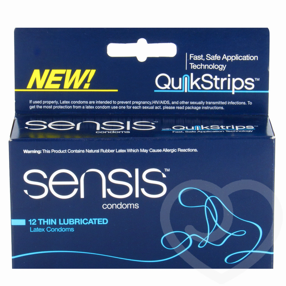 Sensis Quikstrip Thin Condoms (12 Pack)