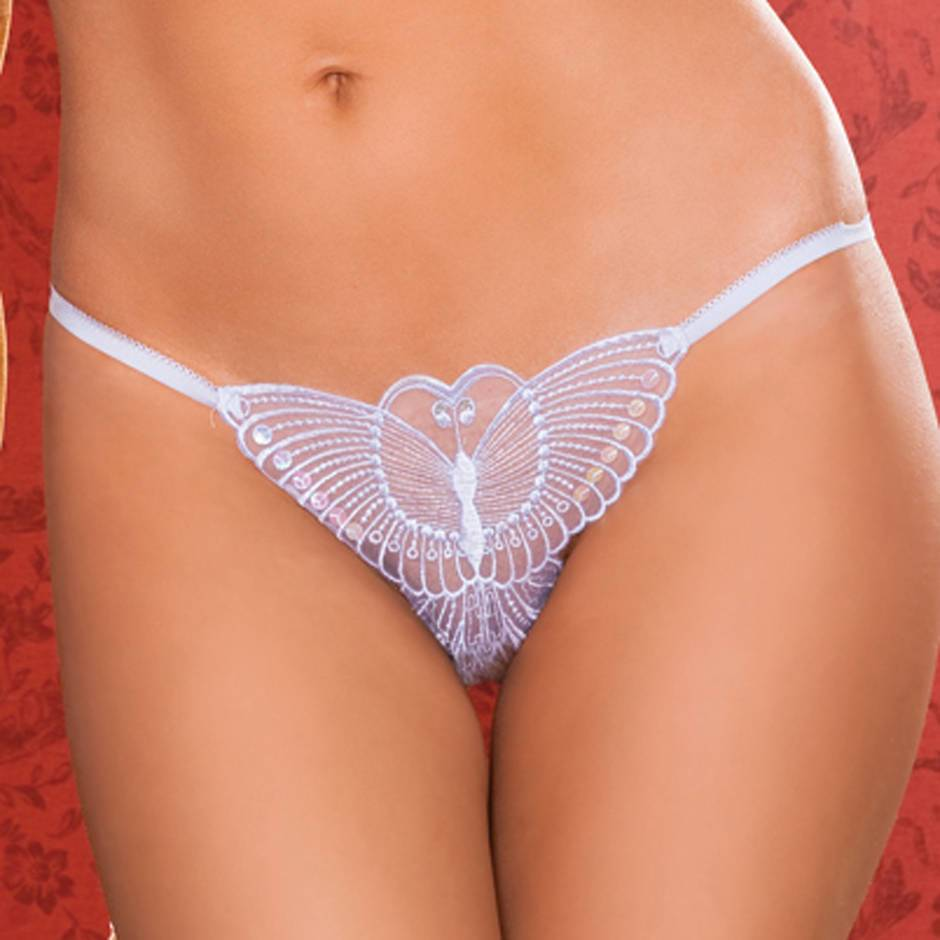 Seven 'til Midnight Butterfly Crotchless Thong