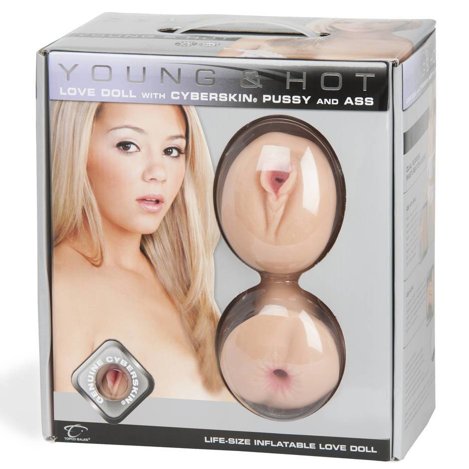Blonde and Hot Realistic Vagina and Ass and Mouth Inflatable Sex Doll 2kg