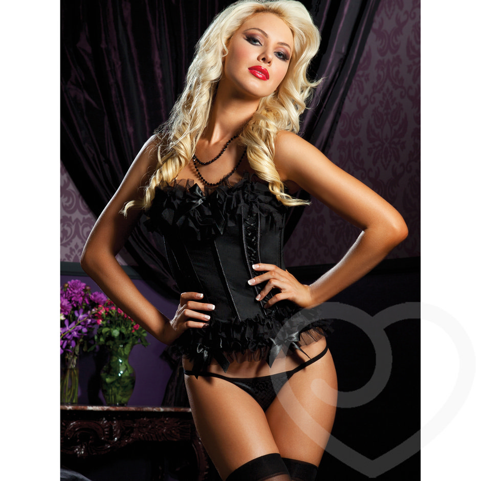 Seven Til Midnight transparentes Bustier und String Set