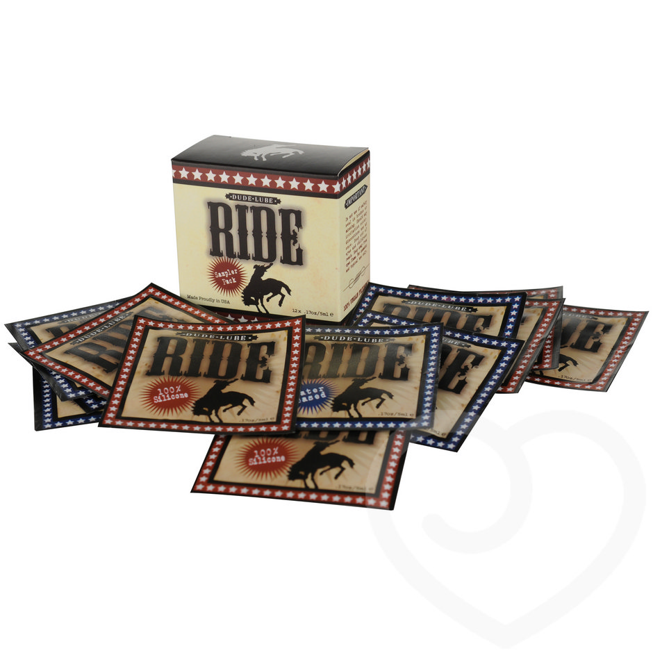 Lot de 12 sachets de lubrifiant 5 ml Dude par Sliquid Ride