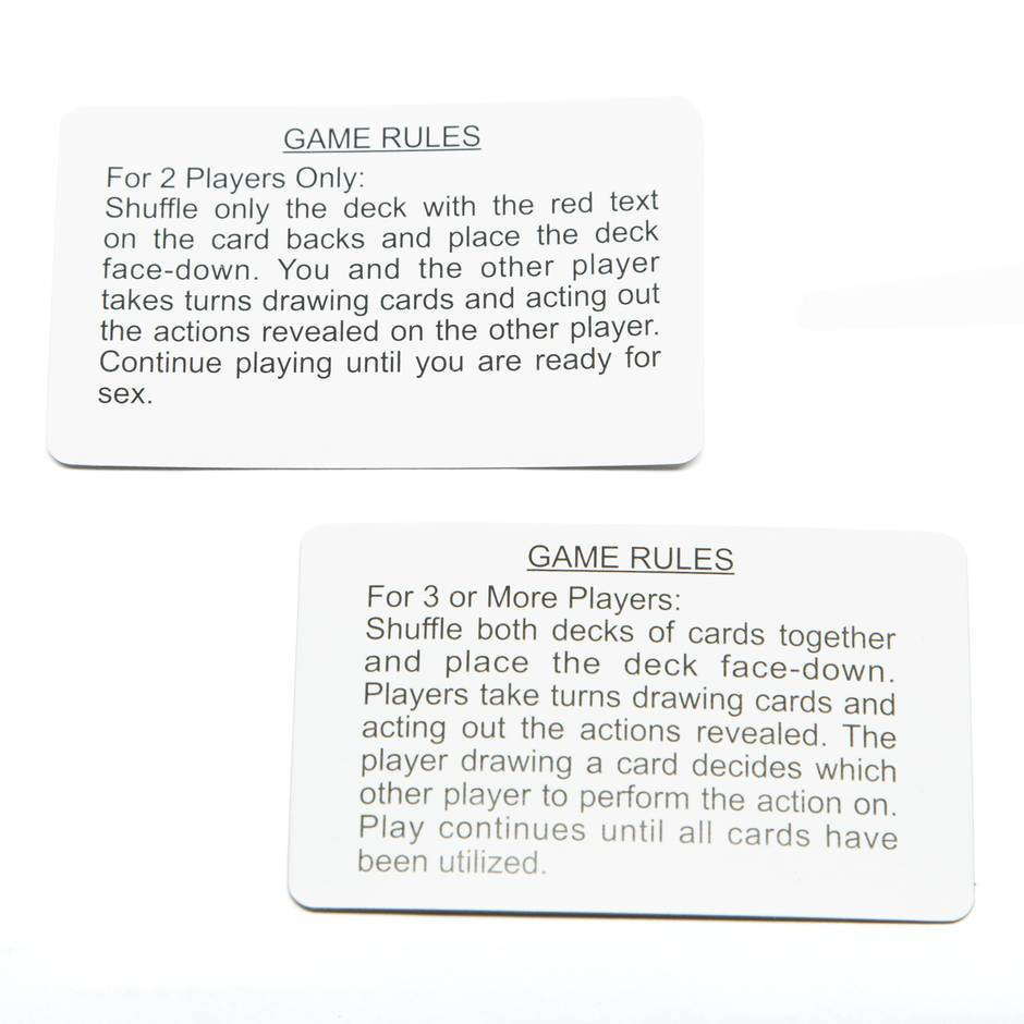 Sex Game Rules