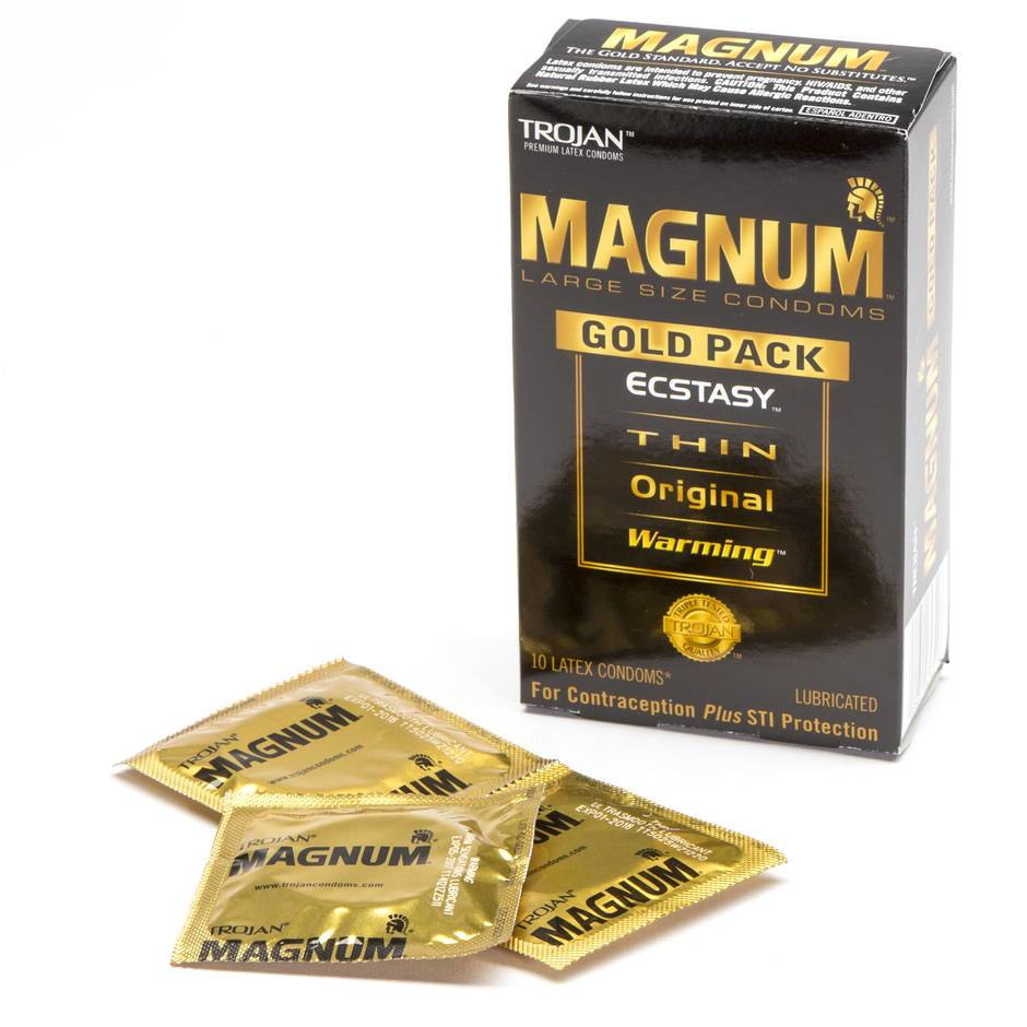 Trojan Magnum Gold Collection Assorted Large Condoms (10 Pack)