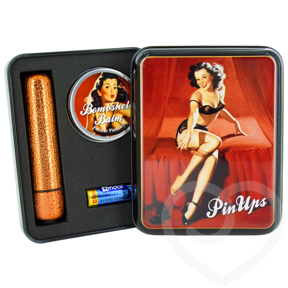Pin Ups Betty 3 Speed Waterproof Glitter Bullet and Bombshell Orgasm Balm Set