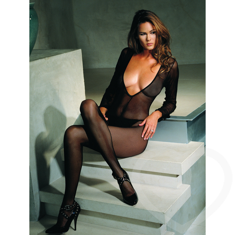 Leg Avenue V-Neck Fishnet Bodystocking