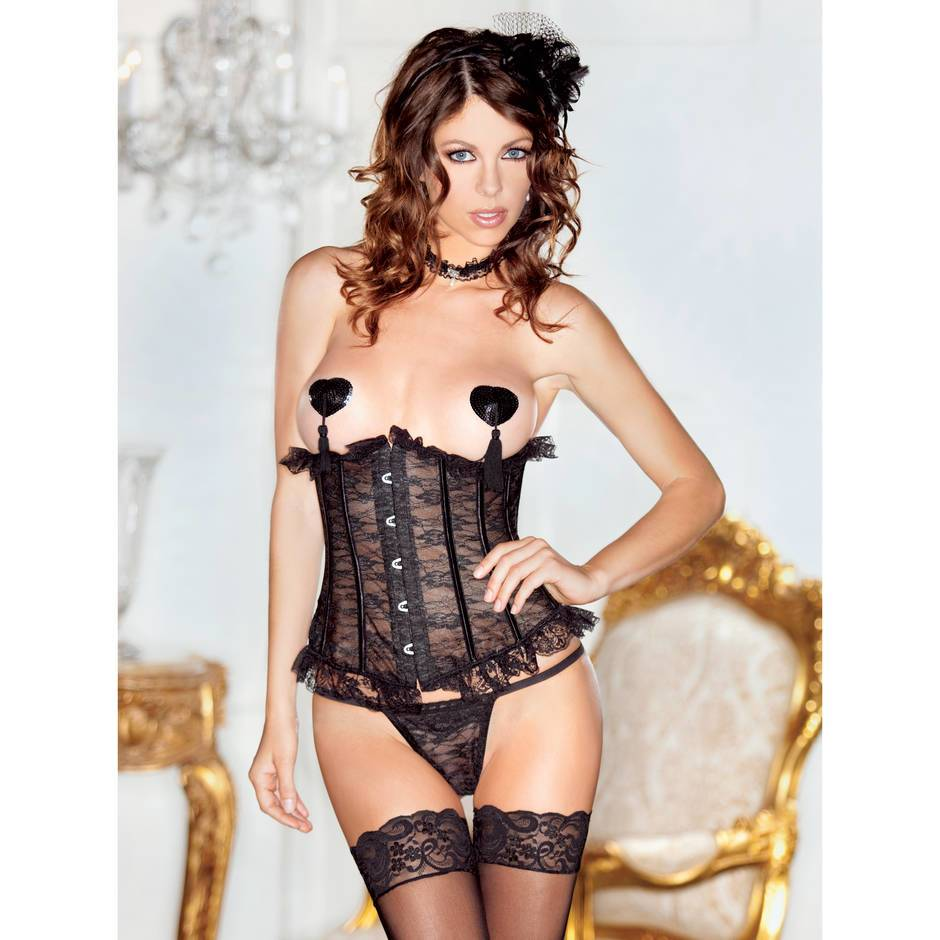 iCollection Lace Underbust Basque