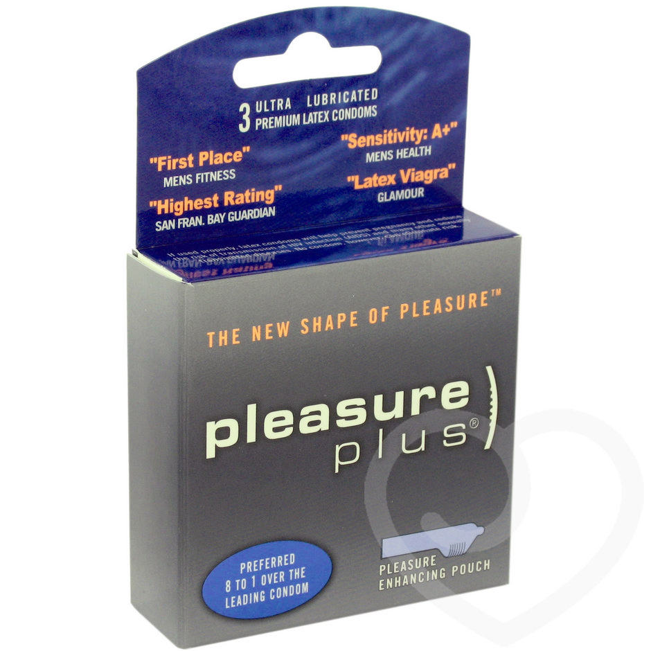 Pleasure Plus Condoms (3 Pack)