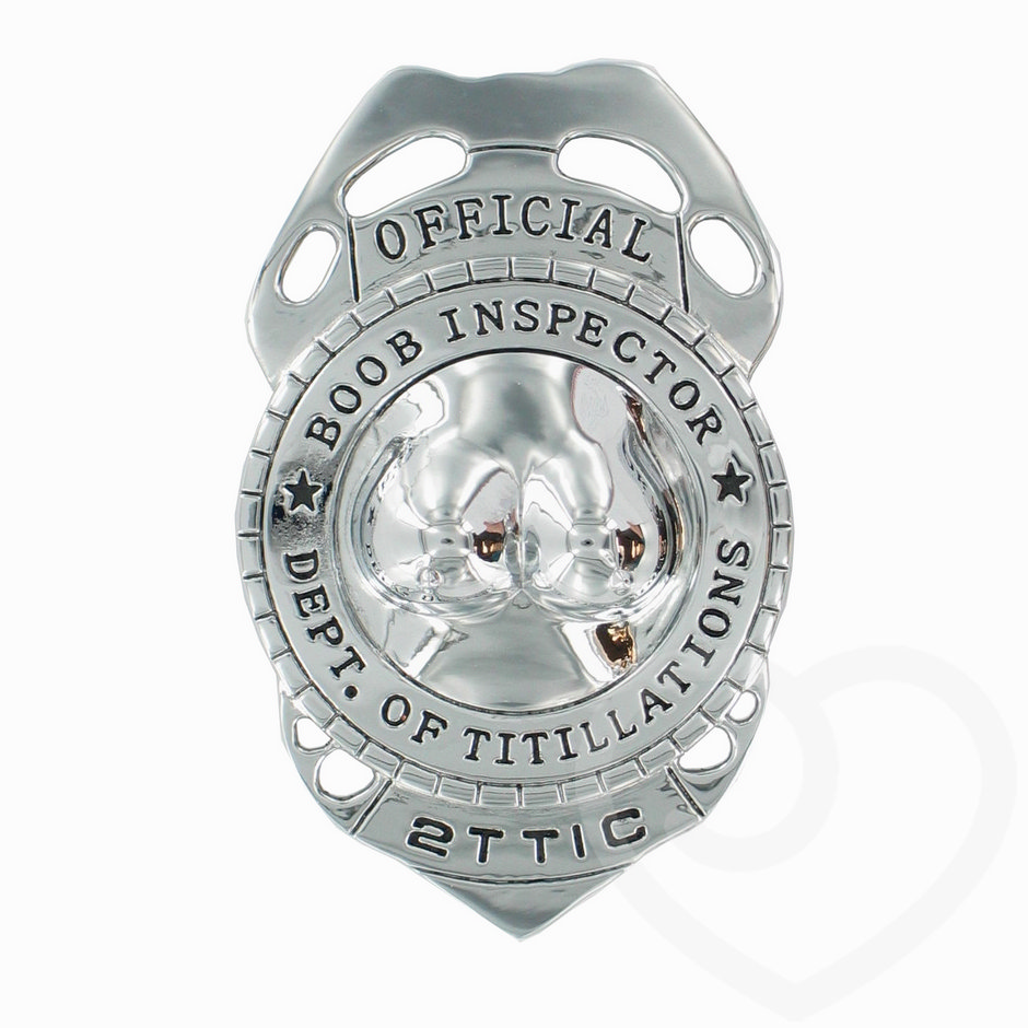 Official Boob Inspector Badge