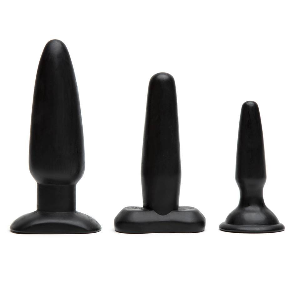 Liquorice Dip Suction Cup Butt Plug Set (3 Piece)
